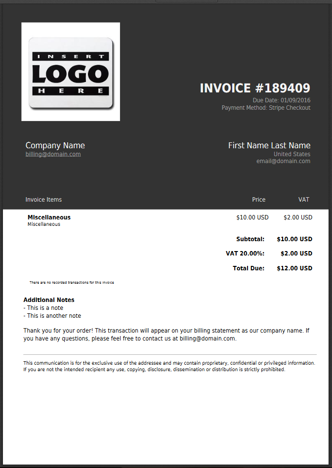harouth PDF invoce template