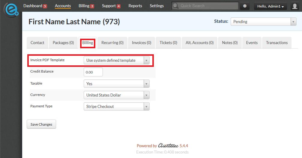 Invoice template default